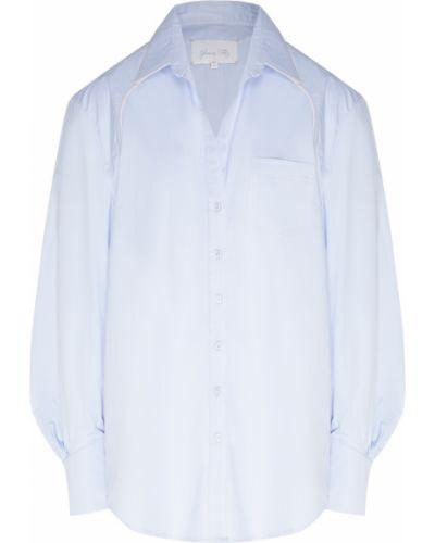 Блузка прямая синяя Johanna Ortiz