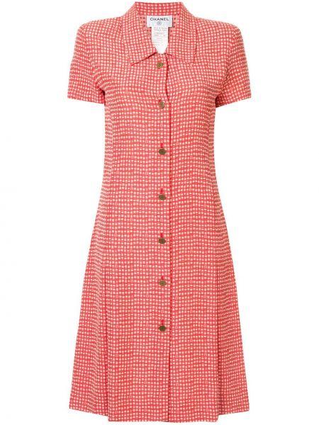 Платье мини винтажная на пуговицах Chanel Pre-owned