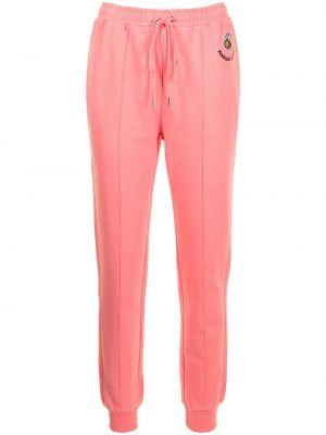 Хлопковые розовые брюки с поясом Markus Lupfer