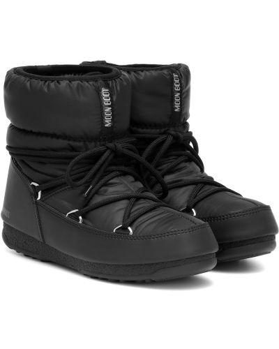 Ботильоны - черные Moon Boot