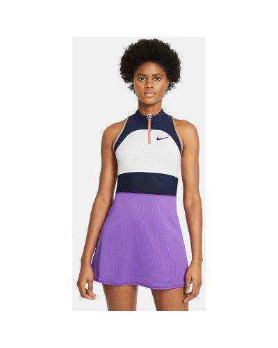 Нейлоновое теннисное фиолетовое платье Nike