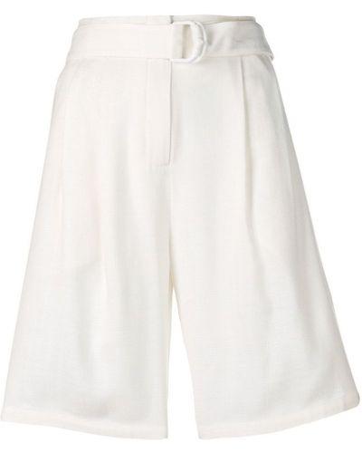 Однобортные белые шорты с карманами Roberto Cavalli