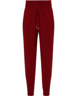 Кашемировые красные брюки с карманами с манжетами Free Age
