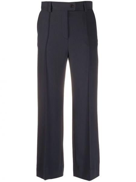 Плиссированные со стрелками черные укороченные брюки See By Chloé
