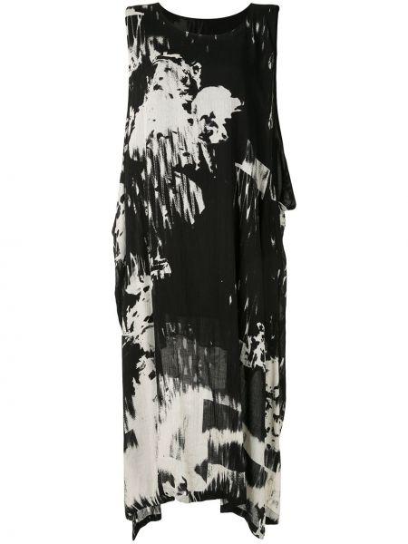 Платье миди с абстрактным принтом с рукавами Y`s
