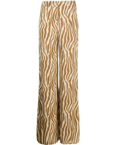 С завышенной талией расклешенные брюки из вискозы Simonetta Ravizza