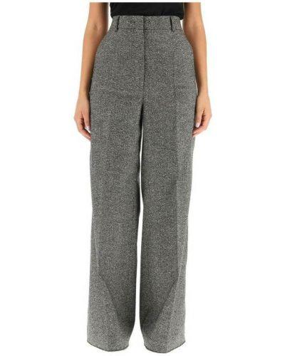 Szare spodnie tweedowe Sportmax