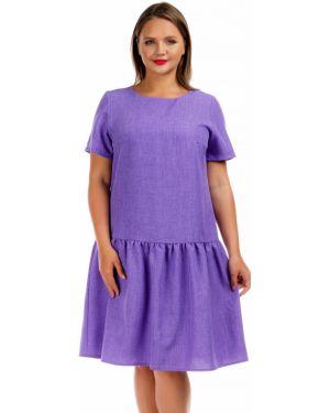 Повседневное платье мини - фиолетовое Liza Fashion