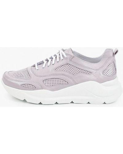 Фиолетовые кожаные кроссовки Der Spur