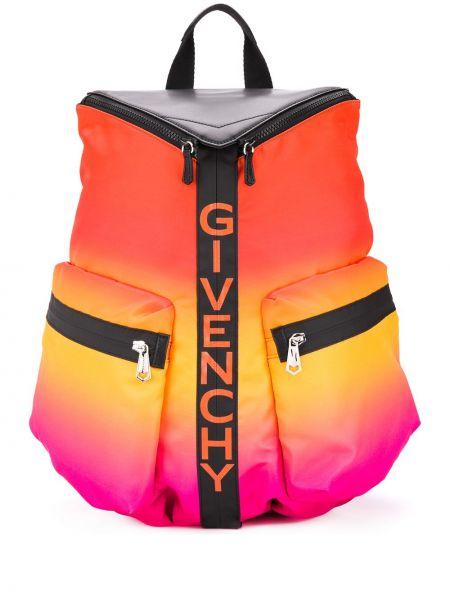 Różowy plecak z printem Givenchy