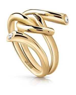 Szary złoty pierścionek Guess