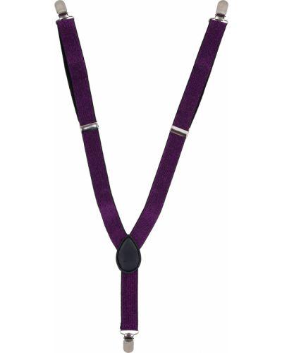 Фиолетовый текстильный брендовый ремень Fun Time