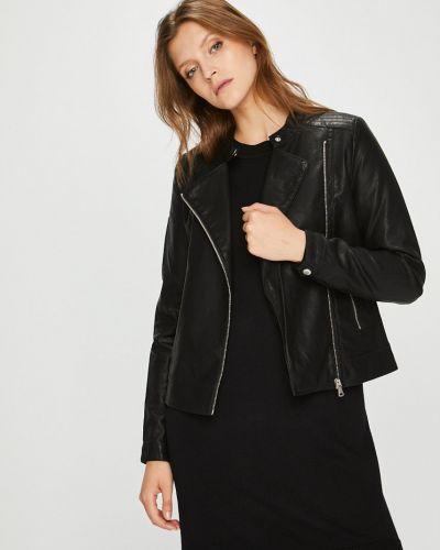 Кожаная куртка облегченная с карманами Broadway