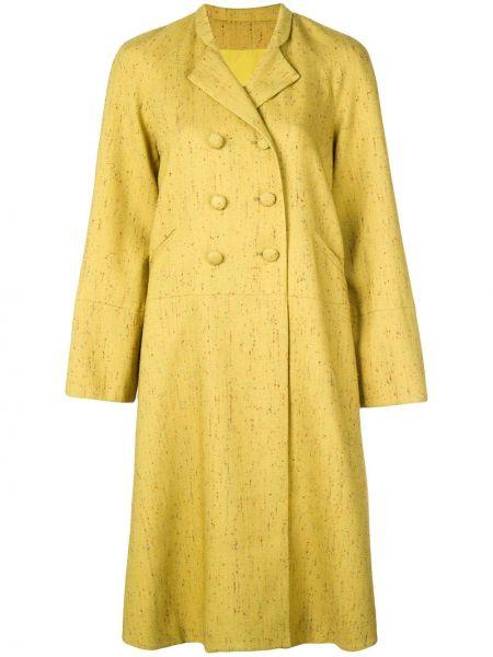 Zielony płaszcz wełniany z długimi rękawami Rosie Assoulin