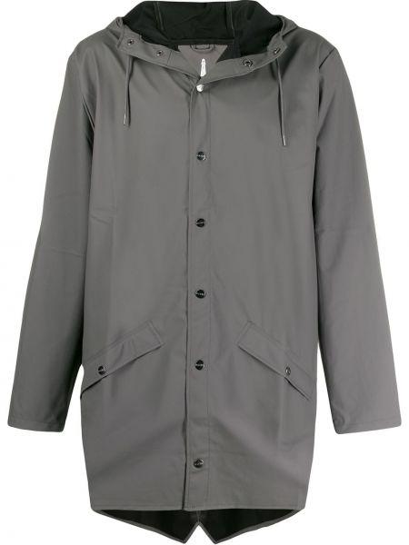 Płaszcz przeciwdeszczowy z kieszeniami długo Rains