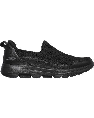 Кожаные слипоны - черные Skechers