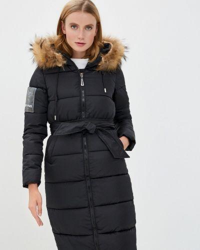 Черная теплая куртка Mallanee
