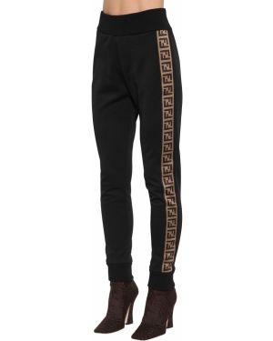 Спортивные брюки на резинке жаккардовые Fendi