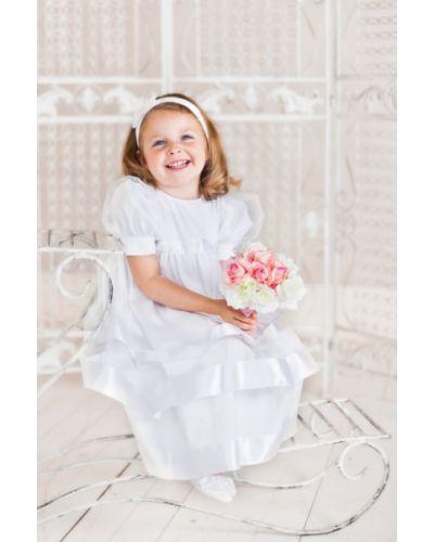 Платье с рукавами из фатина хлопковое ангел мой
