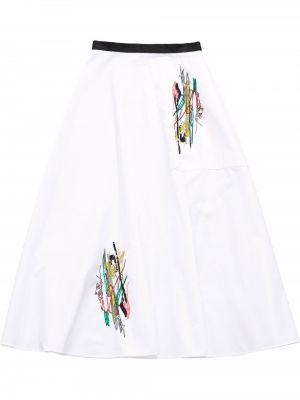 Spódnica bawełniana - biała Christopher Kane