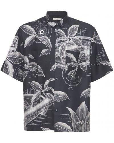 Jedwab czarny koszula z kieszeniami Givenchy