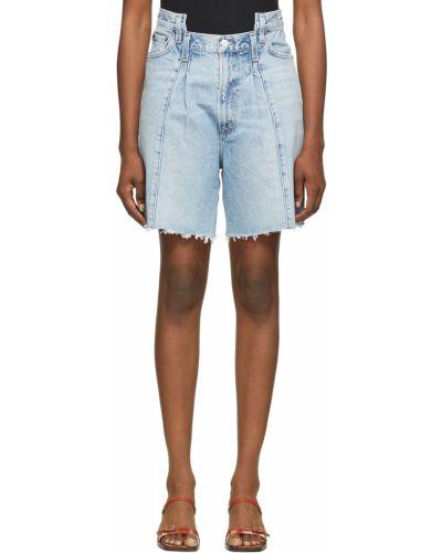 Szorty jeansowe - niebieskie Agolde