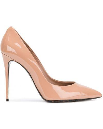 Туфли-лодочки на высоком каблуке кожаные на шпильке Dolce & Gabbana