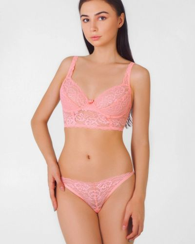Розовый бюстгальтер на косточках Texaleksa