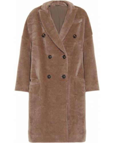 Зимнее пальто из альпаки шерстяное Brunello Cucinelli