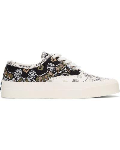 Złote białe sneakersy na obcasie Maison Kitsune