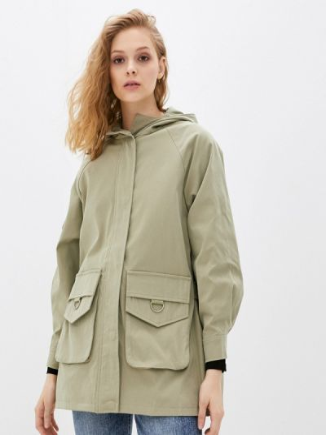 Зеленый плащ B.style