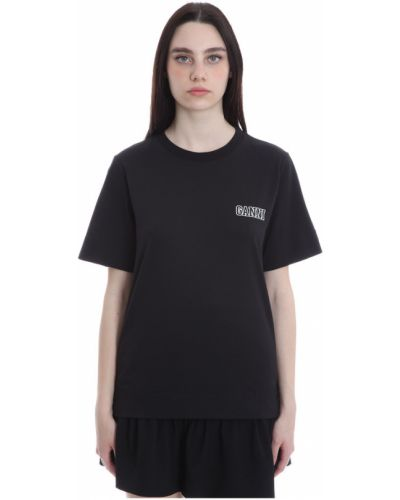 Czarna t-shirt Ganni