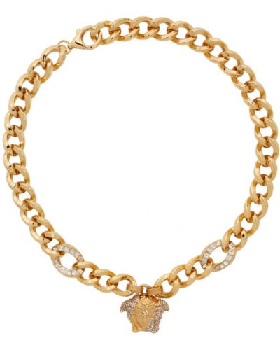 Палаццо для полных золотые Versace