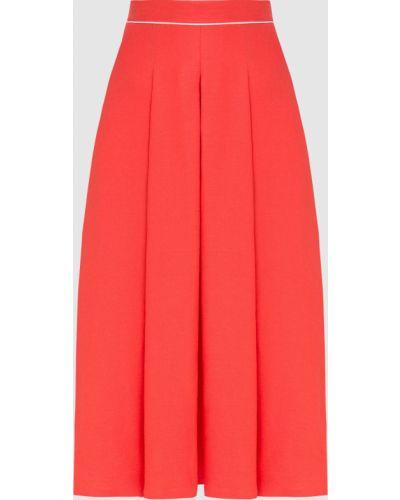 Льняная красная юбка миди Loro Piana