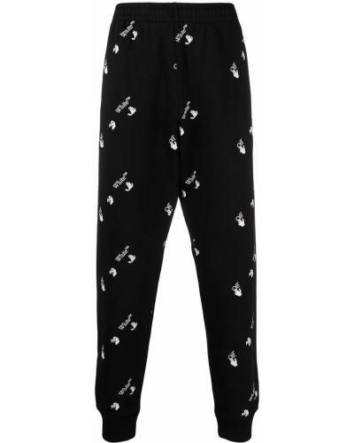 Bawełna czarny spodni spodnie Off-white