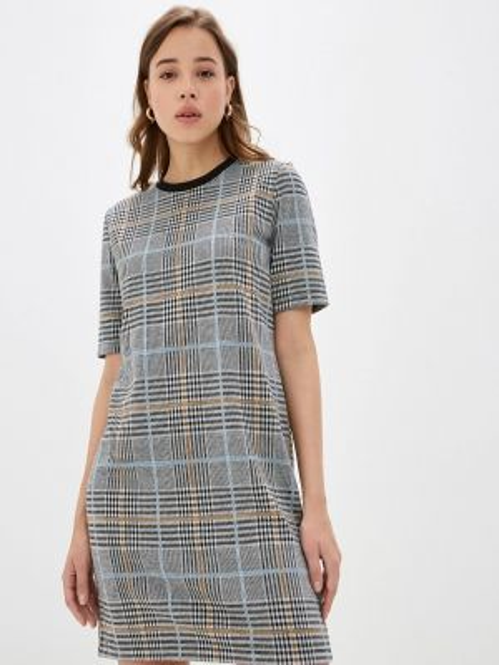 Платье серое прямое Concept Club