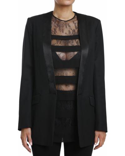 Пиджак шерстяной черный Balmain