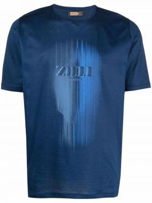 Лонгслив с принтом - синяя Zilli