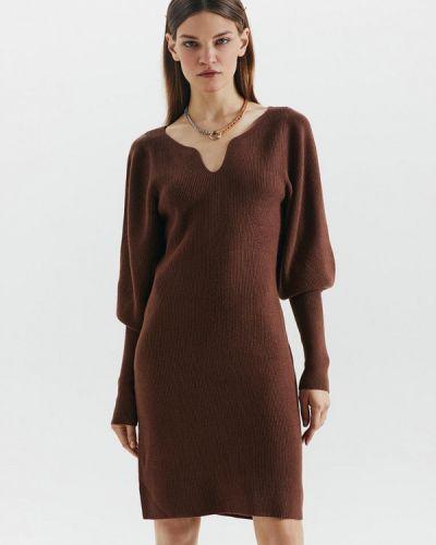 Коричневое вязаное платье Love Republic
