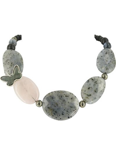 Черное ожерелье с бабочками Nature Bijoux