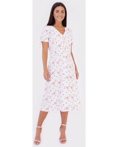 Прямое белое платье Bessa