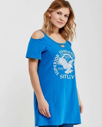 Платье весеннее синее Sitlly