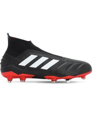 Czarne półbuty skorzane bezszwowe Adidas Football