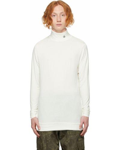 Biały sweter z haftem Ambush