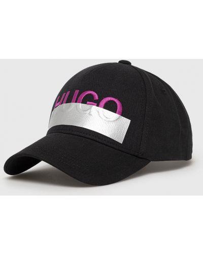 Czarny kapelusz bawełniany Hugo