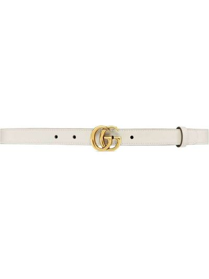 Pasek srebrny - biały Gucci