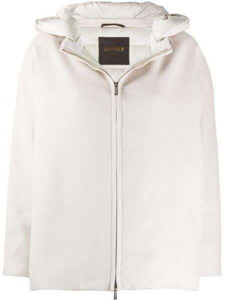 Шерстяная куртка с капюшоном на молнии Moorer