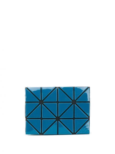 Nylon niebieski portfel z gniazdem z fałdami Issey Miyake