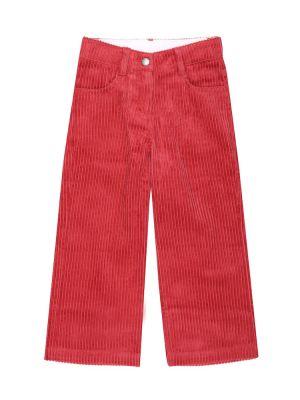 Ватные розовые брюки вельветовые Stella Mccartney Kids