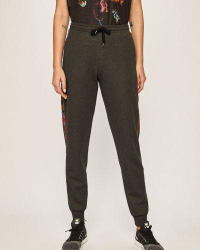 Серые свободные брюки с поясом с открытым носком Desigual Sport